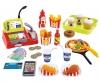 Ecoiffier Caisse + accessoires fast food