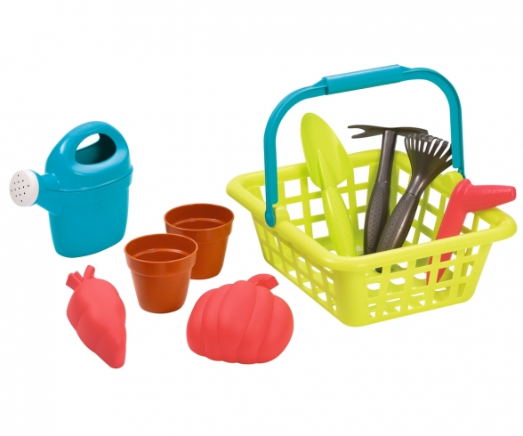 Ecoiffier Gardener's basket with accessories