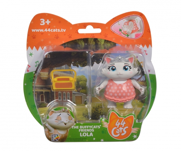 Smoby 44 Cats Spielfigur Lola mit Radio