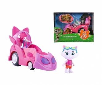 44 Cats Milady figure with racing car
