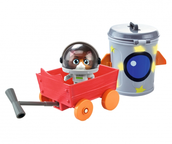 Smoby 44 Cats Spielfigur Cosmo mit Raumkapsel