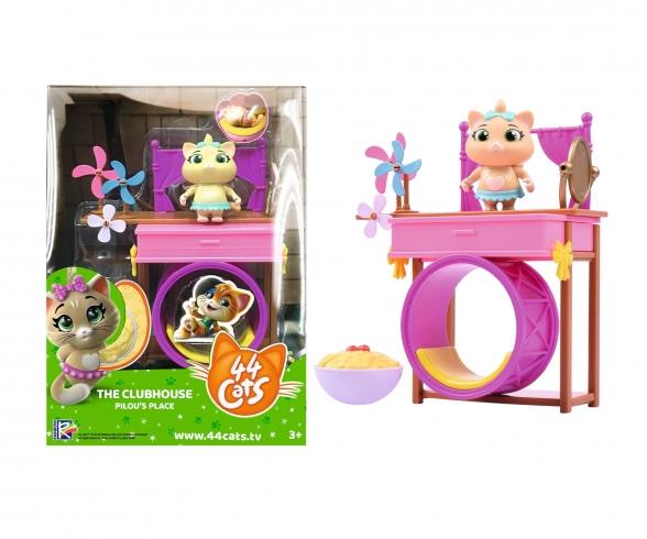 44 Cats Décor de jeu + Figurine Pilou