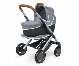 Smoby Quinny Combi Pushchair + Pram Grey