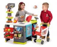 Maxi-Supermarkt mit Einkaufswagen