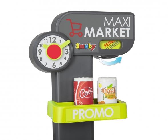 Smoby Maxi Market Rouge/Bleu/Vert B/O