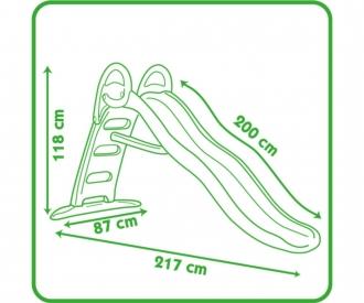 Smoby Funny II Wellenrutsche mit Wasseranschluss