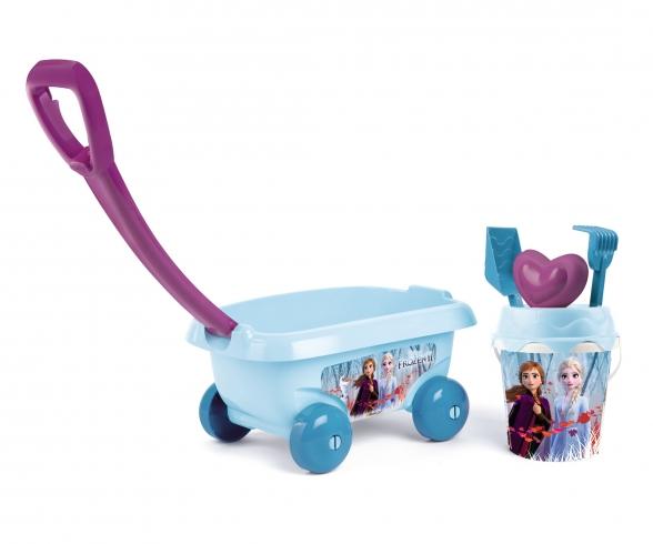 Smoby La Reine Des Neiges 2 Chariot De Plage Garni