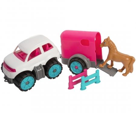 BIG-Power-Worker Mini Ponytransporter-Set