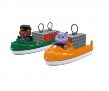 AquaPlay Carrier- + TransportBoat + 2 Puppets