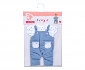 """Corolle 12"""" T-Shirt + Overall"""