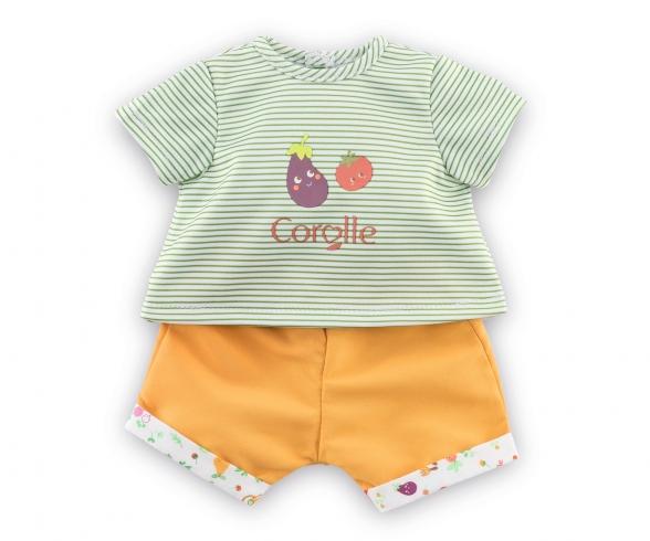 Corolle 30cm T-Shirt + Shorts, Gartenspaß