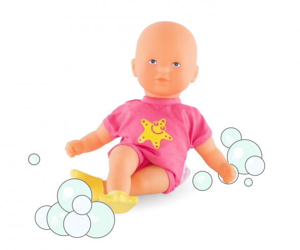 Corolle Mini Badepuppe, pink