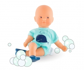 Corolle Mini Badepuppe, blau