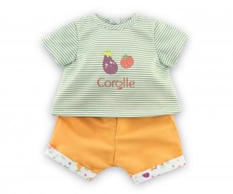 Corolle 36cm T-Shirt + Shorts, Gartenspaß