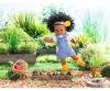 Corolle Dress, Garden Delights